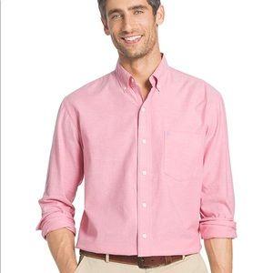 IZOD Button Down Pink Oxford Long Sleeve Shirt XL